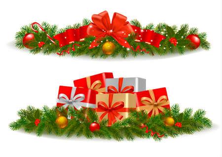 polly: Christmas banners. Vector.