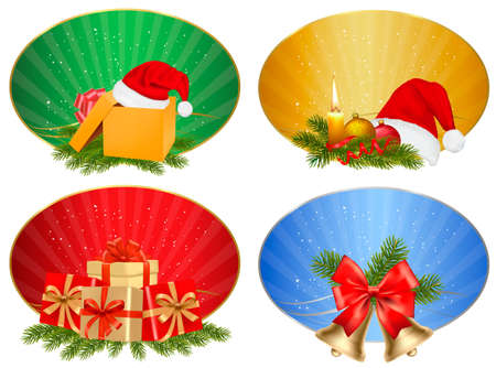 polly: Set of winter christmas backgrounds. Vector illustration Illustration