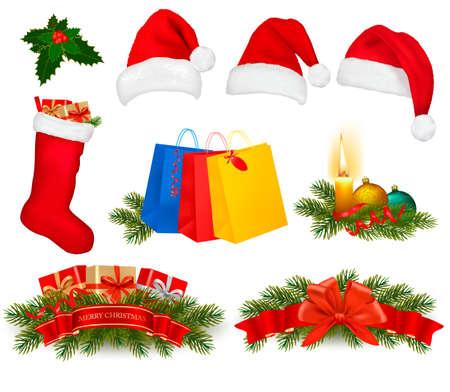 Set van Kerst pictogrammen. Vector illustratie.