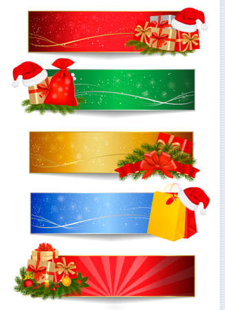 Set of winter christmas backgrounds. Vector illustration  Vector