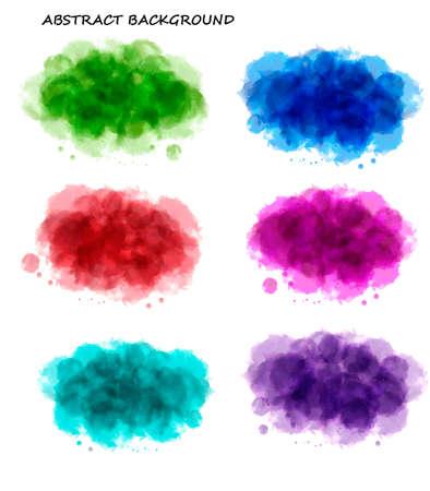 Collecte de fonds colorés aquarelle abstraite. Vecteur. Vecteurs