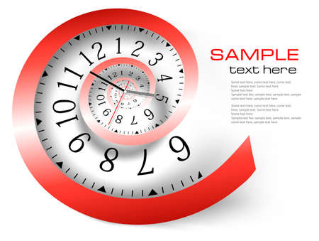 Infinity time background. Vector illustration Vector