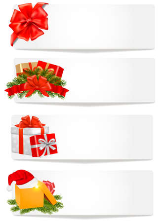 polly: Set of winter christmas banners. Vector illustration.