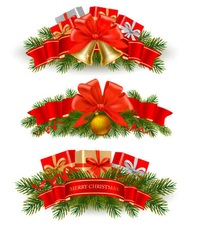 Three christmas banners. Vector