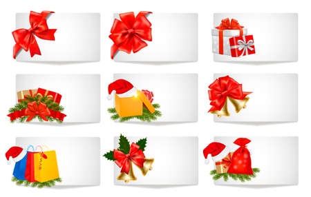 Set of winter christmas banners. Vector illustration.  Vector