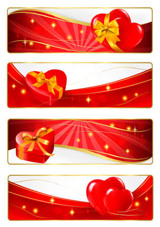 Valentine`s day banners. Vector