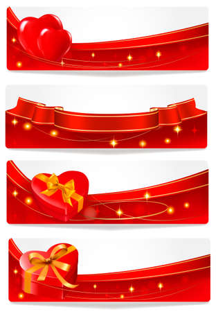 Set of holiday banners. Vector illustration. Vector
