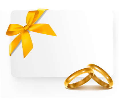 golden ring: Background with wedding rings. Vector illustration.