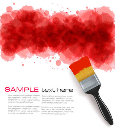 Abstract watercolor background. Vector illustration. Stock Vector - 11973354