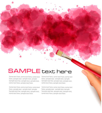 Abstract watercolor background. illustration. Stock Vector - 12109012