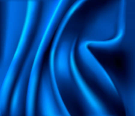 Elegant blue satin texture. Vector illustration. Vector
