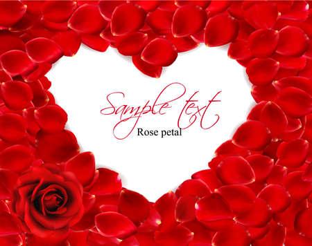 Beautiful heart of red rose petals. Vector Stock Vector - 12345916