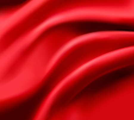 Red satin background. Vector illustration.
