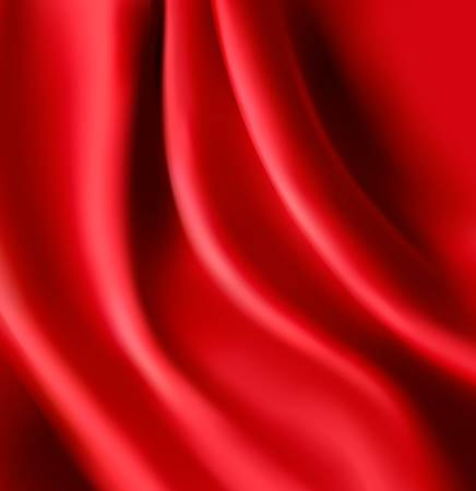 Red satin background. Vector illustration. Vector