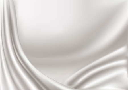 Elegant white silk texture. Vector illustration. Vector