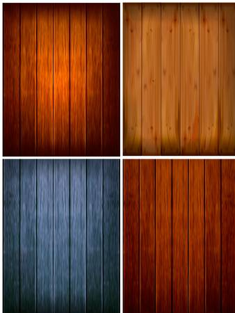 wood paneling: Set of wood backgrounds. Vector illustration Illustration