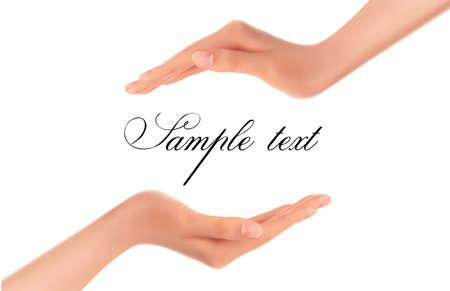 mains: Contexte avec deux mains Vecteur Illustration