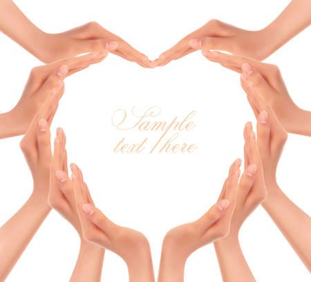 Hands making a heart  Vector illustration Vector