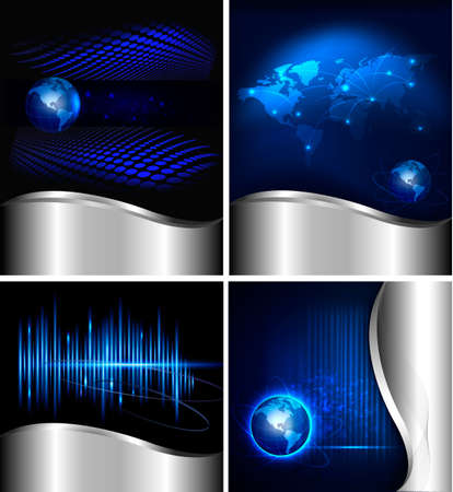Big set of abstract technology and business backgrounds  Vector illustration Stock Vector - 12595597