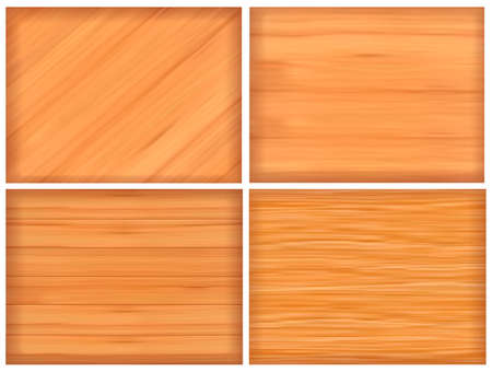Set of brown wood texture  Vector illustration Vector