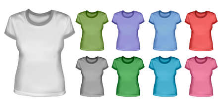 Set of female shirts Stock Vector - 12987372