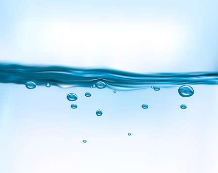 아쿠아: 푸른 물 배경 벡터 일러스트 레이 션