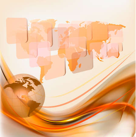 Business elegant abstract background with globe  Vector