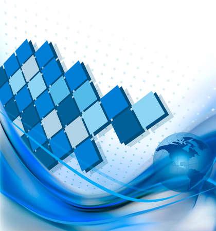 Zusammenfassung elegante Business-Hintergrund mit Globus Vektor-Illustration Vektorgrafik