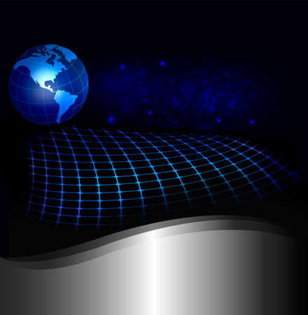 Abstract technology background with globe  Vector illustration Vector