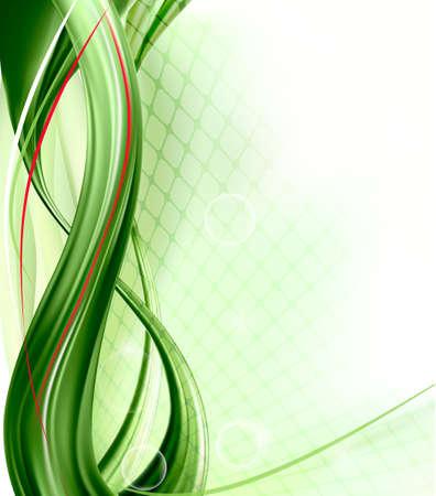 internet business: Business elegant abstract green background Illustration