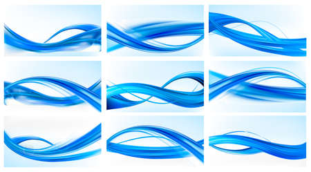 hi tech background: Big set of abstract blue elegant backgrounds