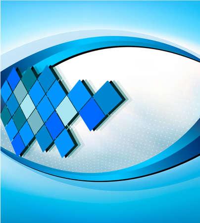mosaic tile: Abstract background elegante business con l'illustrazione vettoriale mosaico