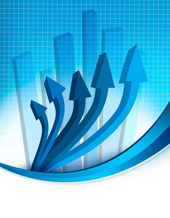 bargraph: Abstract blue background with diagram