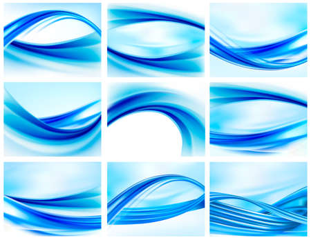 Collection of blue abstract backgrounds   Stock Vector - 14021358