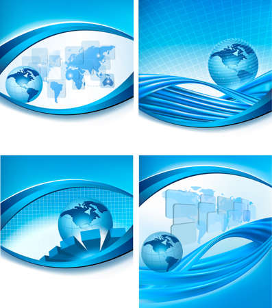 Big set of abstract technology and business backgrounds. Vector illustration Vector
