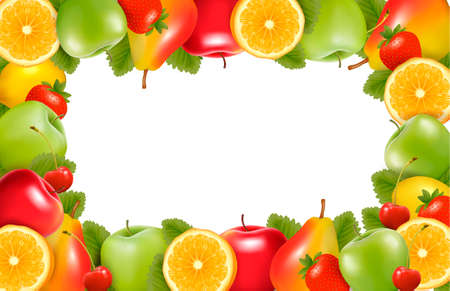 apple border: Nature background made of delicious ripe fruit