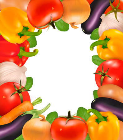 Frame made of vegetables  Stock Vector - 14557647