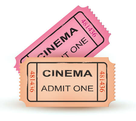 theater seat: Two cinema tickets