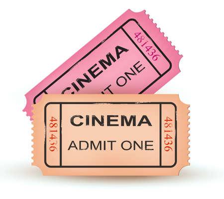 cinema seats: Two cinema tickets