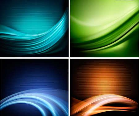 абстрактный: Набор визитных элегантных красочных абстрактных фонов. Векторная иллюстрация