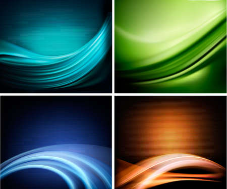 abstract backgrounds: Set of business elegant colorful abstract backgrounds. Vector illustration