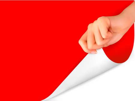 hoja en blanco: Hoja de papel en blanco con la ilustraci�n vectorial mano Vectores