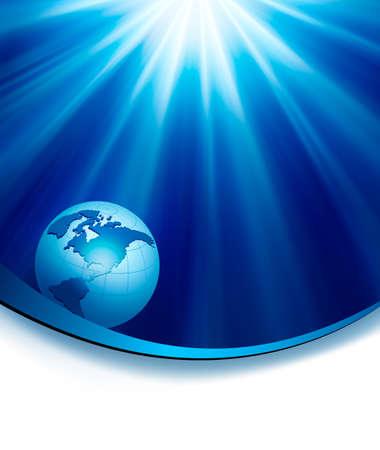 globe illustration: Business elegant abstract background with globe  illustration