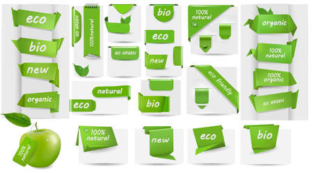 Collection with Eco tags and labels and stickers illustration Stock Vector - 15099123