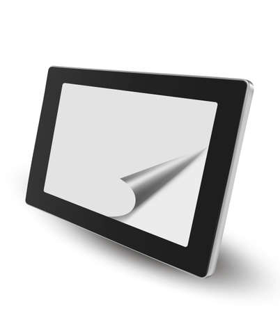 multitouch: Tablet pc   Vector Illustration
