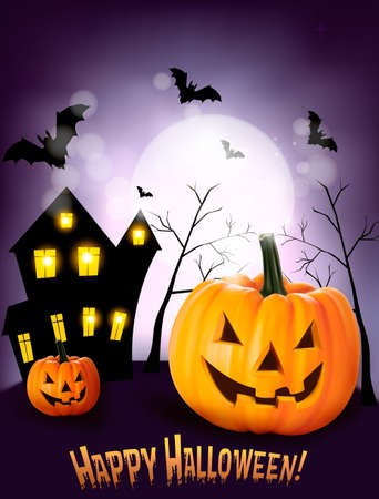 terribly: Halloween background  Vector Illustration