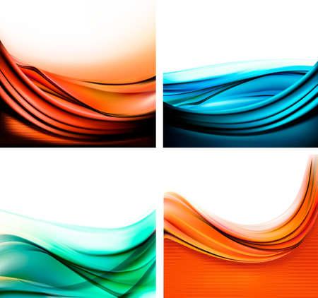 Set of colorful elegant abstract backgrounds  Vector illustration  Illusztráció