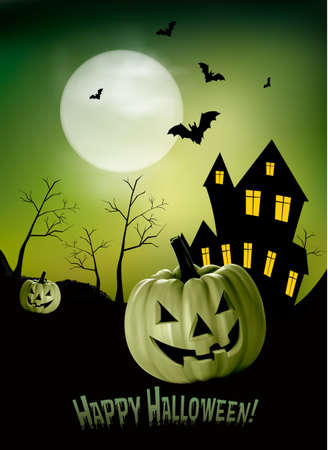 gloomy: Halloween background  Vector Illustration