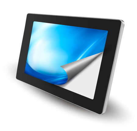 communicatio: Tablet pc with open page  Vector