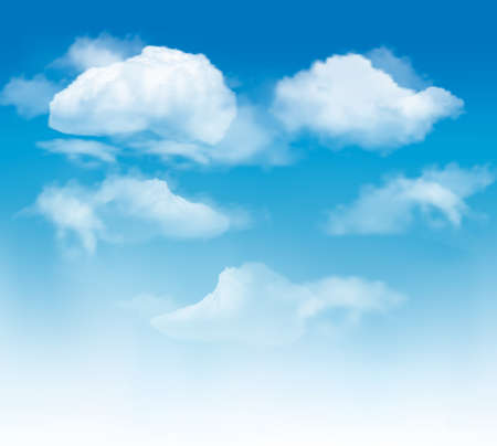 Sky background with clouds.  Stock Vector - 15400395